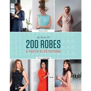 Livre 200 robes à partir de 20 patrons editions marie claire