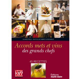 livre cuisine grands chefs vins editions marie claire collection la revue du vin de france