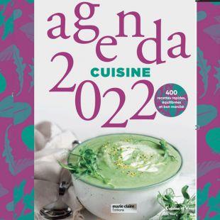 Livre agenda cuisine 2022