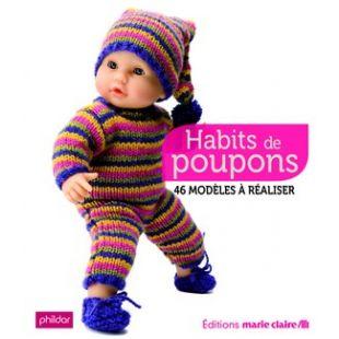 Livre habits poupons à tricoter