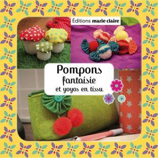 kit pompons fantaisie et yoyo en tissu