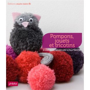 livre pompons jouets et tricotins