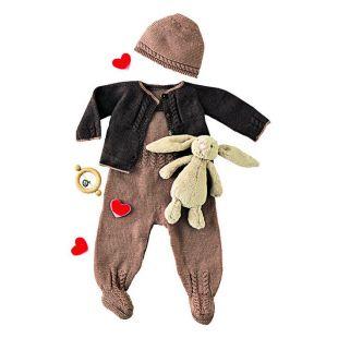 kit tricot bébé combinaison