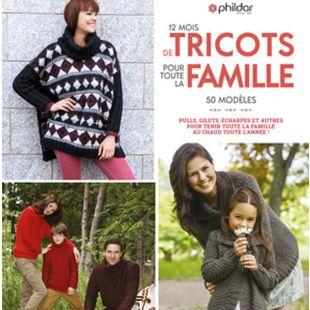 livre 12 mois de tricot de famille editions marie claire