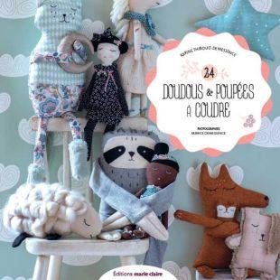 Livre 24 doudous et poupée à coudre editions marie claire