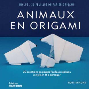 livre animaux en origami edirions marie claire Ross Symons