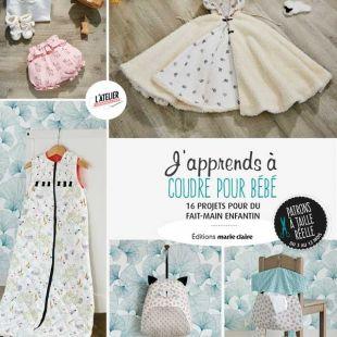 Livre couture j'apprends à coudre pour bébé couture bébé