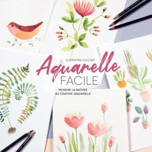 livre aquarelle facile editions marie claire