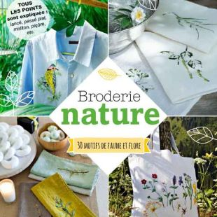 Livre Broderie nature editions marie claire