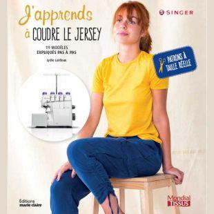 livre j'apprends à coudre le jersey editions marie claire