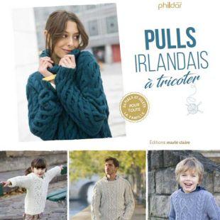 Livre pull irlandais à tricoter Editions Marie Claire