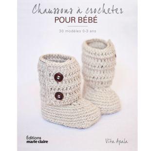 livre chaussons à crocheter pour bébé