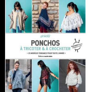 Livre ponchos à tricoter et à crocheter