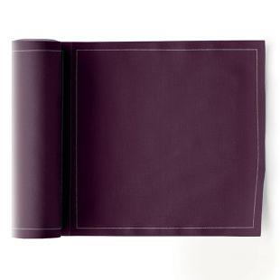Serviettes de table prédécoupées réutilisables couleur prune 100% coton