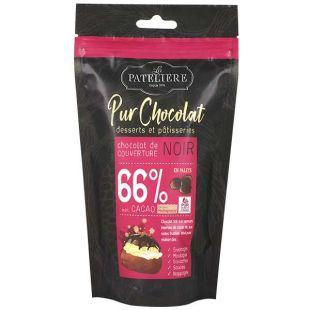 Palets de chocolat noir de couverture 66%