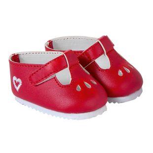 chaussures rouges pour poupons zoé valentine rose