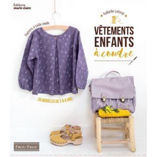 Livre vêtements coudre enfants Editions marie claire